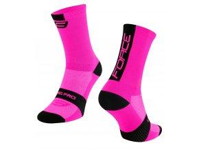 ponožky FORCE LONG PRO, růžovo-černé