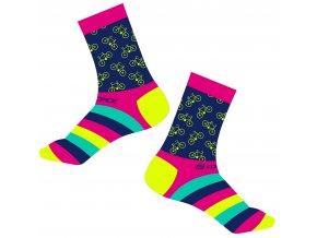 ponožky FORCE CYCLE, růžové