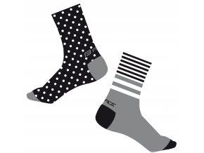 ponožky FORCE SPOT, černo-šedé