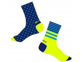 ponožky FORCE SPOT, modro-fluo