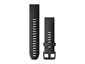 Řemínek pro fenix6S - QuickFit 20, silikonový, černý, černá přezka