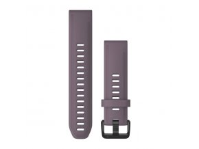 Řemínek pro fenix6S - QuickFit 20, silikonový, fialový, černá přezka