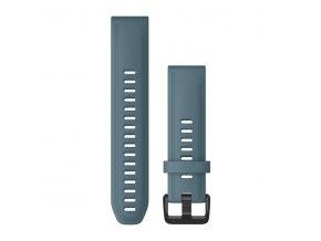 Řemínek pro fenix6S - QuickFit 20, silikonový, modrý, černá přezka