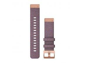 Řemínek pro fenix6S - QuickFit 20, nylonový, fialový, černá přezka