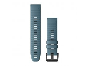 Řemínek pro fenix6 - QuickFit 22, silikonový, modrý, černá přezka