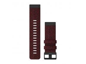 Řemínek pro fenix6X - QuickFit 26, nylonový, červený, černá přezka