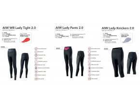 NALINI Čapáky AIW WR Lady Tight 2.0 bez vložky/ without pad 2019