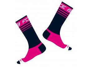 ponožky FORCE STAGE, modro-růžové
