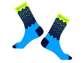 ponožky FORCE WAVE, fluo-modré