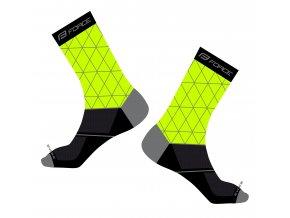 ponožky FORCE EVOKE, fluo-černé