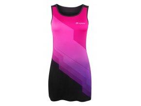 šaty sportovní FORCE ABBY, růžovo-černé
