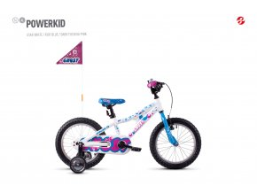 GHOST Powerkid 16 white / blue
