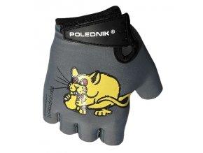 rukavice dětské Poledník černé myš