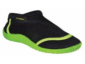 boty dětské LOAP HANK do vody černo/zelené
