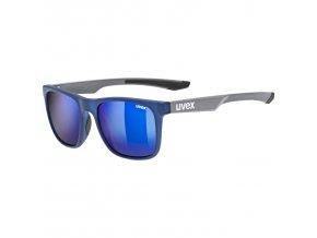 20 UVEX BRÝLE LGL 42, BLUE GREY MAT/MIRROR BLUE (4514)