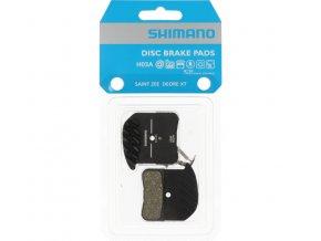 brzdové destičky Shimano H03A polymer+chladič original balení