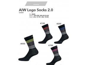 NALINI Ponožky Logo Socks 2.0 - Fluo 2019