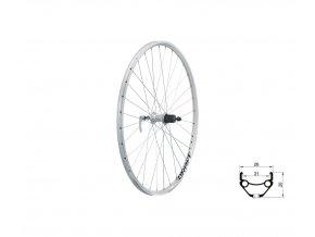 "KELLYS Zapletené kolo zadní KLS DRAFT V-brake R, 28/29"", silver"