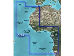 Bluechart G2 HXAF003R - Western Africa, území velikosti Regular, microSD/SD karta