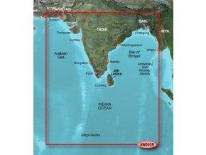 Bluechart G2 HXAW003R - Indian Subcontinent, území velikosti Regular, microSD/SD karta