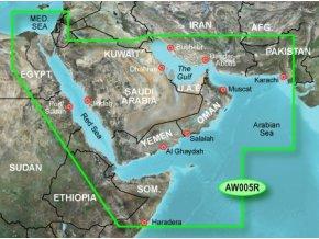 Bluechart G2 HXAW005R - The Gulf and Red Sea, území velikosti Regular, microSD/SD karta