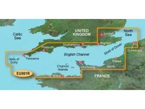 Bluechart G2 HXEU001R - English Channel, území velikosti Regular, microSD/SD karta