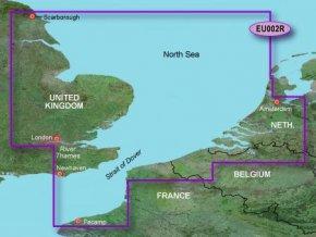 Bluechart G2 HXEU002R - Dover to Amsterdam and England Southeast, území velikosti Regular, microSD/SD karta