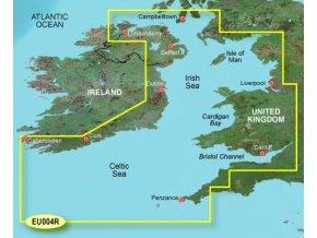Bluechart G2 HXEU004R - Irish Sea, území velikosti Regular, microSD/SD karta