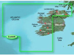 Bluechart G2 HXEU005R - Ireland, West Coast, území velikosti Regular, microSD/SD karta