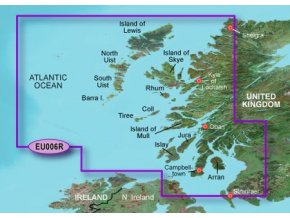Bluechart G2 HXEU006R - Scotland, West Coast, území velikosti Regular, microSD/SD karta