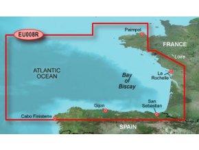 Bluechart G2 HXEU008R - Bay of Biscay, území velikosti Regular, microSD/SD karta