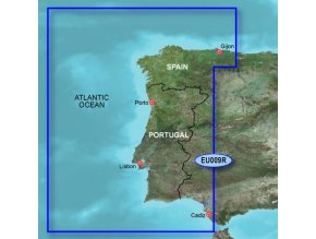 Bluechart G2 HXEU009R - Portugal and Northwest Spain, území velikosti Regular, microSD/SD karta
