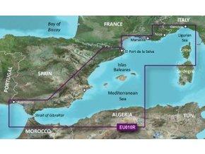 Bluechart G2 HXEU010R - Spain, Mediterranean Coast, území velikosti Regular, microSD/SD karta