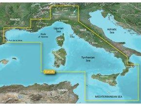 Bluechart G2 HXEU012R - Italy, West Coast, území velikosti Regular, microSD/SD karta