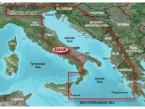 Bluechart G2 HXEU014R - Italy, Adriatic Sea, území velikosti Regular, microSD/SD karta