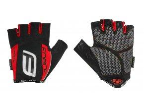 rukavice F DARTS 17 gel bez zapínání, červené