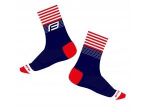 ponožky FORCE STREAK, modro-červené