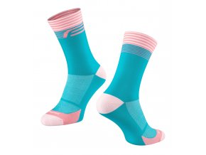 ponožky FORCE STREAK, modro-růžové