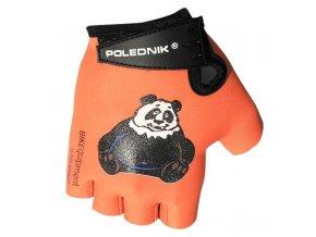 rukavice dětské Poledník oranžové panda