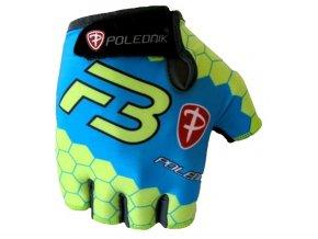 rukavice pánské Poledník F3 NEW fluo-modré