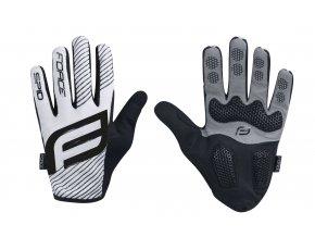 rukavice F MTB SPID  letní bez zapínání, bílé