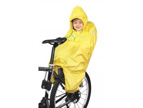 PONCHO-pláštěnka FORCE na dítě v sedačce žluté