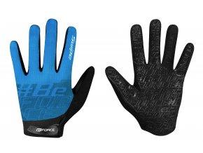 rukavice FORCE MTB SWIPE letní,modré