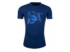 triko FORCE FLOW krátký rukáv,modré