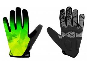 rukavice FORCE MTB CORE letní, fluo-zelené