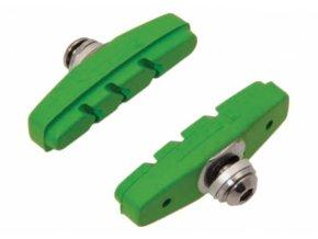 špalíky 4RACE silniční šroub 50mm zelené