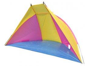 stan plážový 270x120x120cm růžovo/žlutý