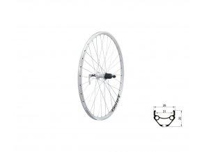 "KELLYS Zapletené kolo zadní KLS DRAFT V-brake R, 26"", silver"