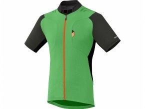 dres krátký pánský Shimano Explorer Jersey zelený