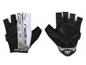 rukavice FORCE RADICAL, šedo-bílo-černé